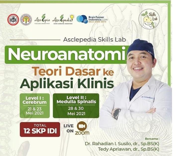 Materi Asclepedia Skills Lab: Neuroanatomi Level 1 (21&23 Mei 2021)